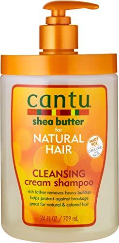 Cantu Shea Butter Natural Hair Cleansing Cream Shampoo 709g SALON SIZE Pump