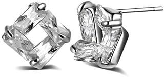 Karatcart Platinum Plated Austrian Crystal Stud Earrings for Women