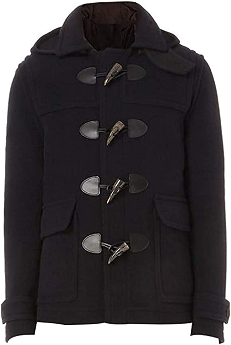 Abbraci Men's Slim fit Winter Warm Short Wool Blend Coat Business Jacket