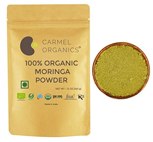 CARMEL ORGANICS USDA Certified 100% Moringa Leaves (340 Grams Powder)