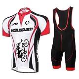 ZCFXJiTuanYZ Abbigliamento da Ciclismo Attrezzatura da Ciclismo da Uomo per Esterno Abbigliamento Sportivo da Ciclismo Camicia a Maniche Corte + Pantaloncini Taglia L Colore 1111