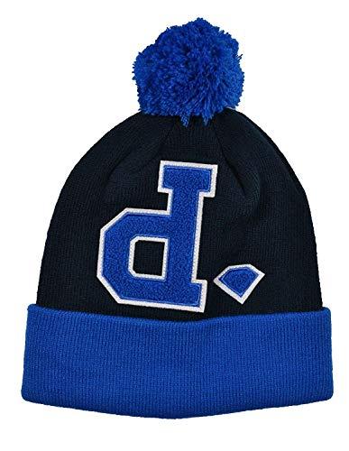 Diamond Supply Co UN-Polo POM Blue Black One Size Hat Cap Knit Beanie