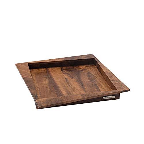 Tablette en bois Noyer NH-Q 36 x 36 cm