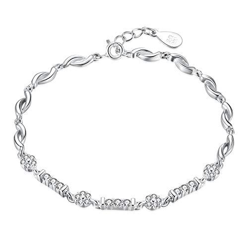 CWEIYUE - Sterling Silver Elegant Bracelet Cubic Zirconia, Jewellery Box Packaging, Gifts for Women