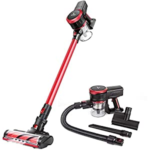 MOOSOO Cordless Vacuum Cleaner 23Kpa Strong Suction 2 in 1 Stick...