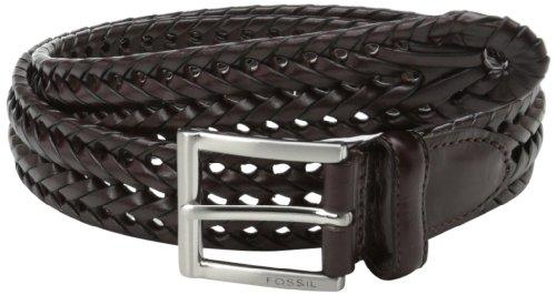 Fossil Myles Leather Braided Belt