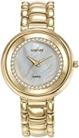 Mestige Women's Grey Dial Alloy Band Watch - Mswa3108, Analog Display