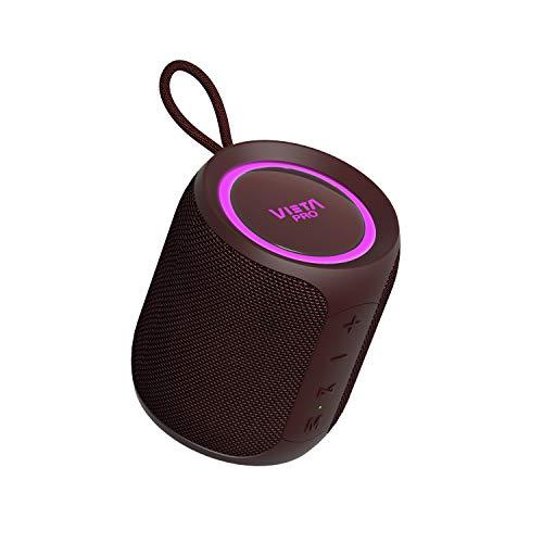 Altavoz Easy 2 de Vieta Pro, con Bluetooth 5.0, True Wireless, Micrófono, Radio FM, 12 Horas de autonomía, Resistencia al Agua IPX7 y botón Directo al Asistente Virtual; Acabado en Color Burdeos.