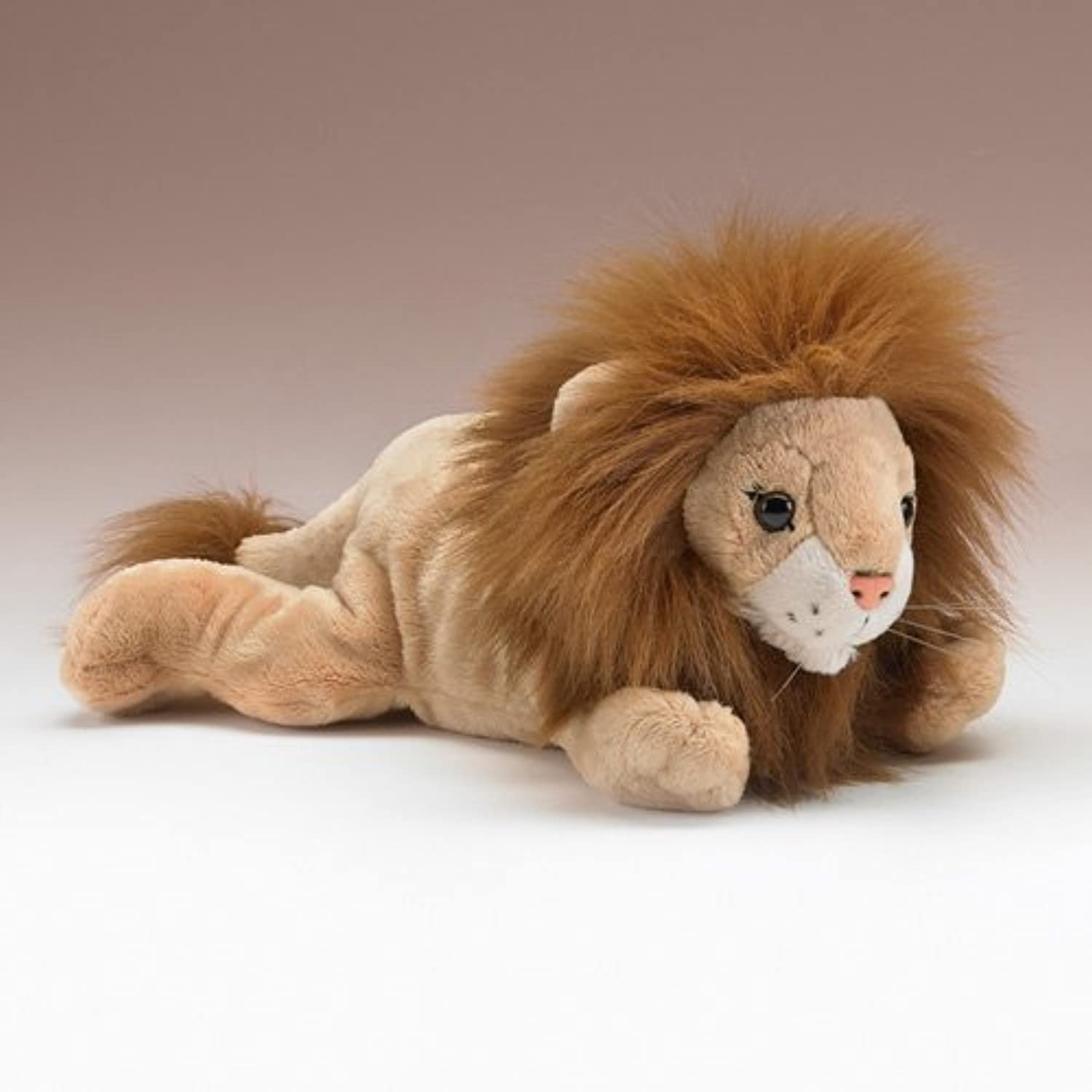 Lion Lying Stuffed Animal Plush Toy 12 L by Wildlife Artists