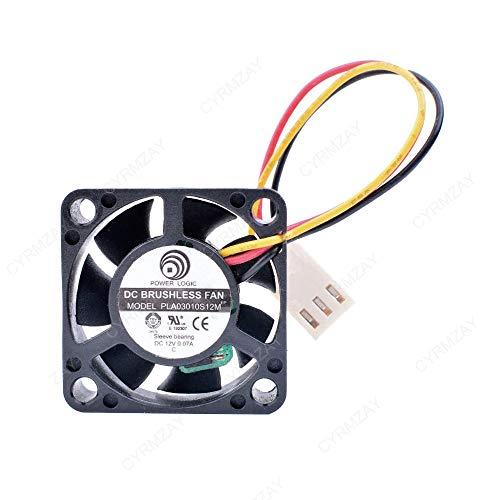 CYRMZAY Ventilador Compatible para Power Logic PLA03010S12M 3010 3 cm 30 mm DC 12 V 0,07 A tacómetro silencioso silencioso Ventilador de refrigeración
