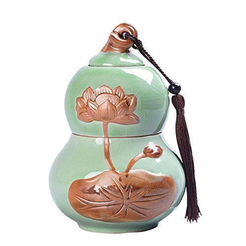 Gourd Shape Storage Tea Box 2-In-1 Coffee Sealed Jar Creativity Storage Tank Package Container Tea Caddy Pot Candy Spices,S