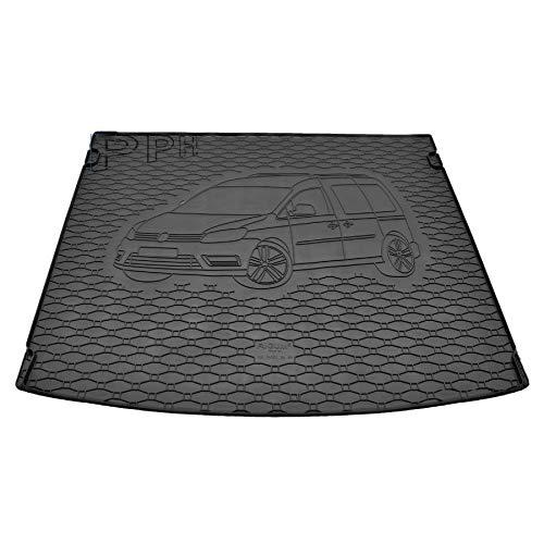 X & Z PPH – Alfombrilla para maletero para VW Caddy Maxi a partir de 2005 hasta hoy, goma antideslizante
