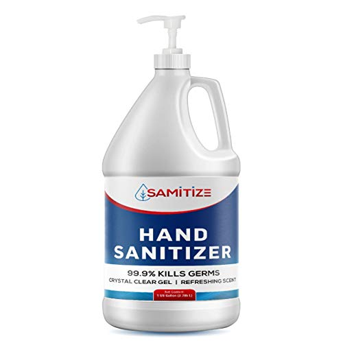 Samitize 70% Alcohol Hand Sanitizer Moisturizing Gel - Kills 99.99% Germs | With Aloe Vera | Made in USA | 1 Gallon with Easy to Use Pump