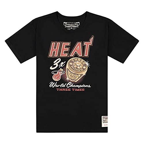 Mitchell & Ness Miami Heat 3-Time World Champions NBA - Camiseta (talla...