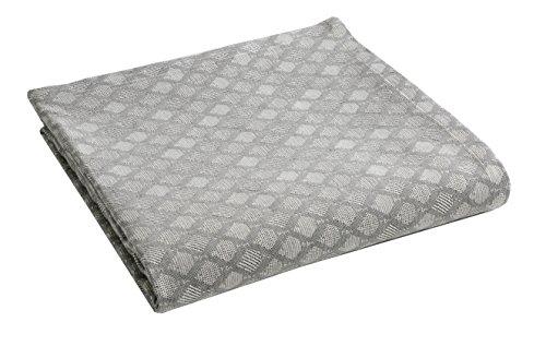 Blanc des Vosges Carpates Jeté de lit Coton Anthracite 250 x 230 cm