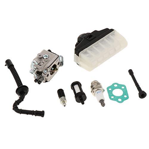 MERIGLARE Kit de Carburador Cortador de Cepillo para MS210 MS230 MS250 021023025