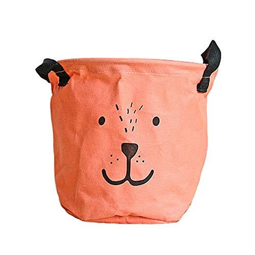 Xinllm Baby wäschekorb wäschekorb Baby Babykorb zur Aufbewahrung von Kleidung Stoffaufbewahrungskorb Spielzeugkorb Baby Wäschekorb orange