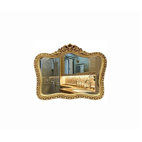 Yuzhonghua princesse rétro miroir miroir décoratif, chambre fille desktops miroir de courtoisie maquillage, miroir de salle de bains, salle de bain miroir imperméable vintage, sculpture créative miroi