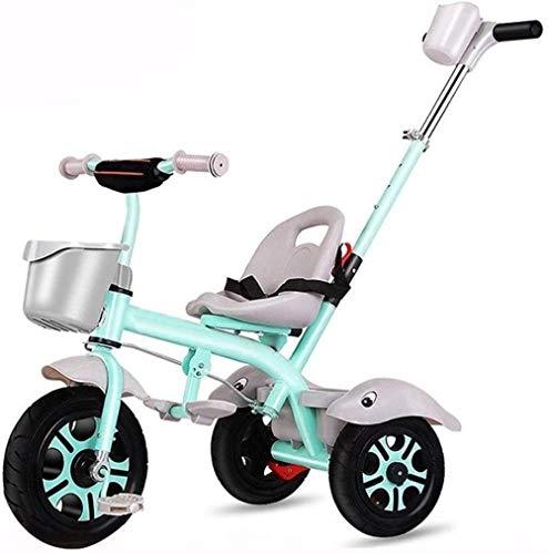 Pushchairs Kindertrikes driewieler 4 in 1 Baby driewieler wandelwagen met drukknop handvat Achterkant Zitting voor Peuter Jongens/Meisjes 3-in-1 Ouder Duw driewieler voor Kinderen Duwen Handvat Baby Producten