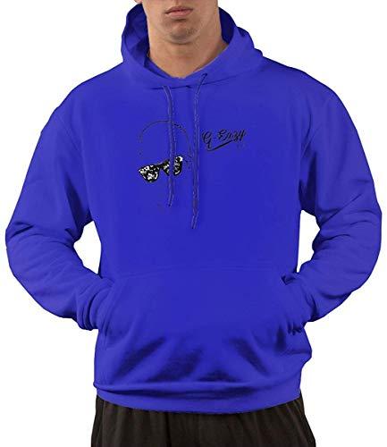 Men's Hoodie Sweatshirt G-Eazy Logo (3) New Classic Minimalist Style Blue