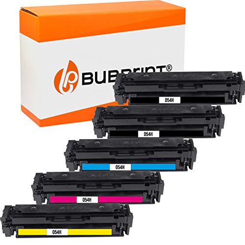Bubprint 054H Cartucho Tóner Compatible para Canon 054 054H 054 H i-Sensys LBP-621Cw LBP-623Cdw LBP-640C MF640C MF641Cn MF641Cw MF642Cdw MF643Cdw MF644Cdw MF645Cx 5 Pack