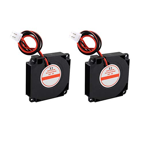 Jopto 2 ventiladores sin escobillas DC 24V 4010 0.06A 40 mm x 40 mm x 10 mm, ventilador de refrigeración turbo hidráulico con cable XH2.54-2P para impresora 3D