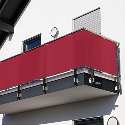 MW Handelsgesellschaft mbH Balkonsichtschutz rot 600 x 90 cm