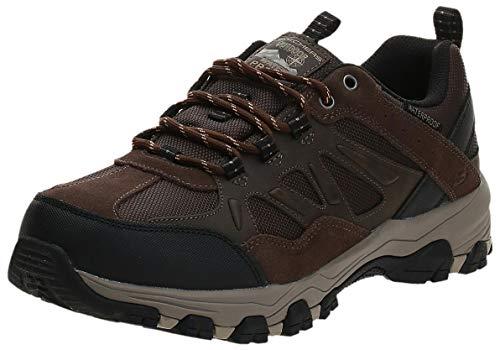 Skechers Men's Selmen-Enago Trail Oxford Hiking Shoe, Chocolate, 11 Extra Wide US