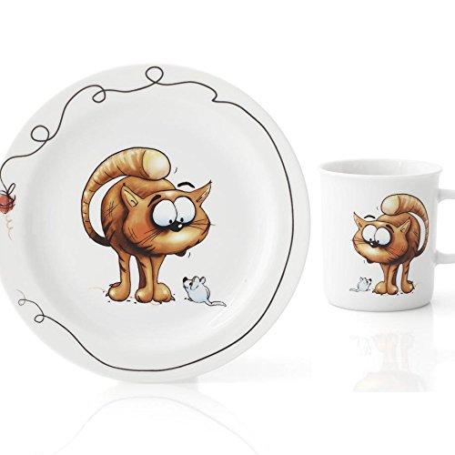 Set Assiette Plate, Assiette Creuse et Mug Oeillet
