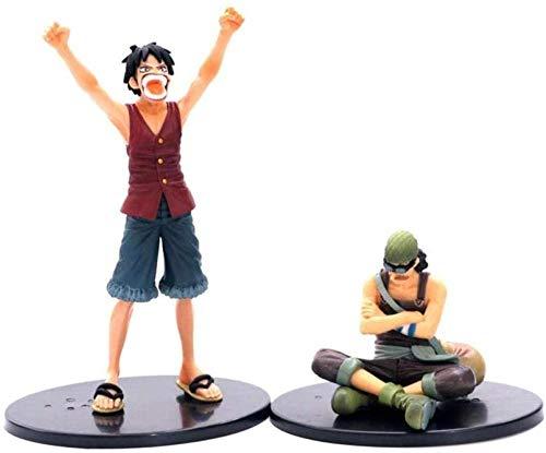 ZYBZGZ 2 Piezas de una Pieza Luffy VS Usopp Victory Ver. Fracaso Figura de acción clásica de PVC Modelo OP Luffy Zoro Sanji Brook 8-17cm