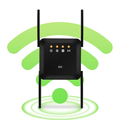 WiFi Range Extender Wireless Signal Repeater Booster, Extend WiFi Signal to Smart Home & Alexa Devices