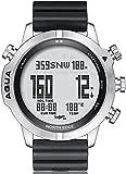 PKLG - Orologio da uomo per immersioni subacquee, NDL (senza tempo di decompressione) bussola temperatura orologio (A)(B)