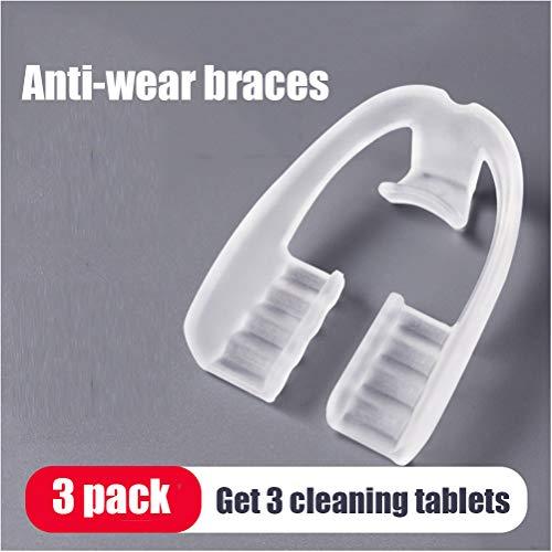 YUI Transparente Anti-Schleifzähne Wache Mundschutz, Kinder Zahnspangen Korrektor, nächtliche Zahnspangen für Erwachsene Anti-Verschleiß Zähne