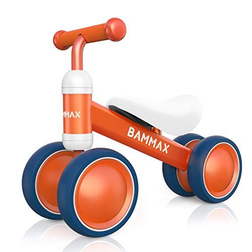Bammax Balance Bike Baby Walker Push Bike Baby Ride On Bike for 1-2 Year Old Boys Girls Kids and Toddlers First Bike Birthday Gift