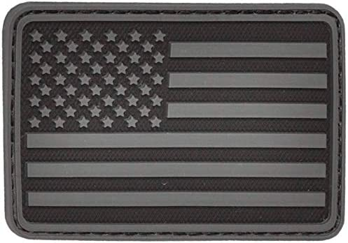 American Flag Patch Black American Flag Velcro Patch Rubber PVC Patch Patches for Jackets Morale product image