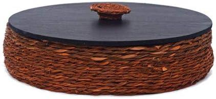 KADAM HAAT Handmade Sabaii Grass and Bamboo Based Roti/Chapati/Paratha/Dry Fruits Serving Plate Box Home and Kitchen...