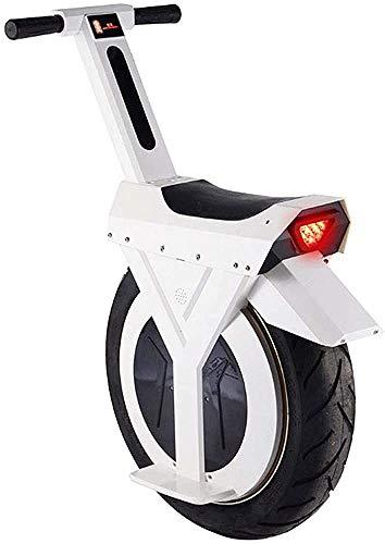 Adulto scooter eléctrico 60V / 500W seguridad de la carga neutral 17 pulgadas eléctrico inteligente carretilla coche equilibrada con luces LED y trípode,White