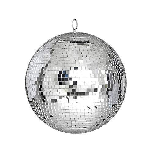 Greatangle Gran Espejo de Cristal Bola de Discoteca DJ Dance Home Bandas de Fiesta Club Iluminación de Escenario Bola de Discoteca Duradera Luz Plateada 25cm