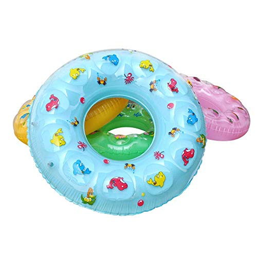 AJH Swimming Ring Baby Thick Inflatable Lifebuoy Float 3-6 Years Old Boy and Girl Swimming Pool Beach Play Toys, 70 Swimming laps