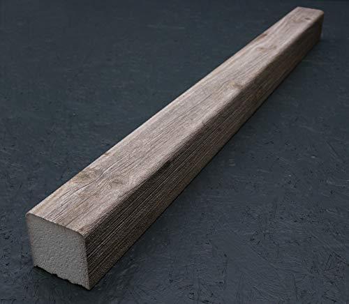 Holzbalken 9cm x 9cm x 120cm (1,5kg) aus Styropor, Kantholz für Wohnzimmer, Küche, Gewerbe, innen & außen – Berlin