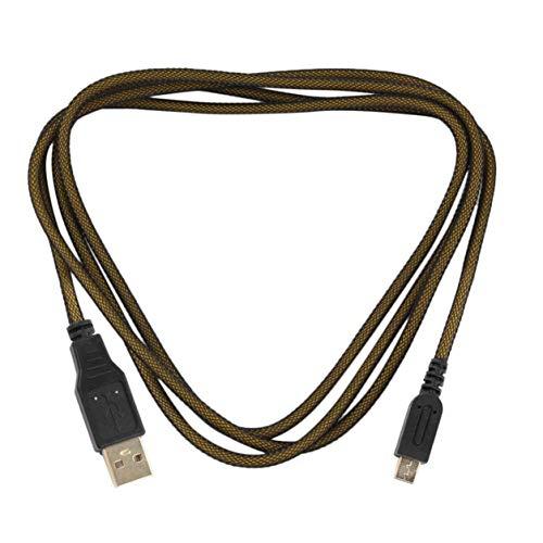 YXDS Cable de Datos USB para el Nuevo Cable de Carga del Cargador de energía de sincronización 3DSXL para el Cable de Carga Chapado en Oro 3DS / 3DSXL / 2DS