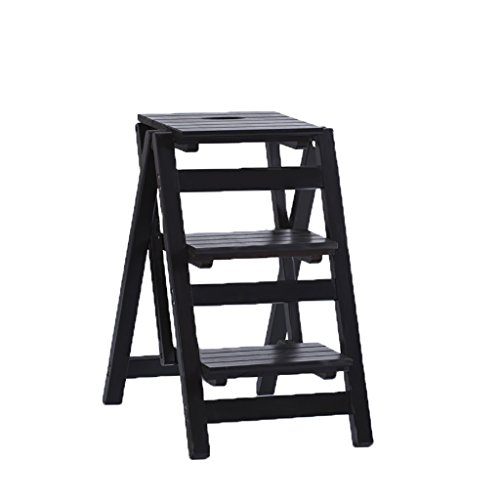 Kruk QX IAIZI massief houten ladder stoel multifunctioneel huishouden kleine ladder Drie-traps indoor opstapladder visgraat verdikte trappen A