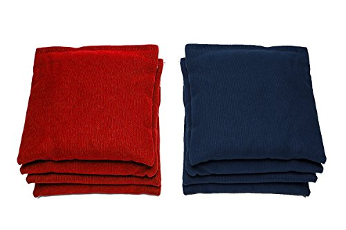 Cornhole Bag (Set of 8) Bean Bag Color: Red/Navy Blue