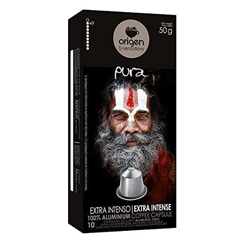 Origen Sensations Extra Intense Nespresso compatible 10 x 10 cápsulas de aluminio