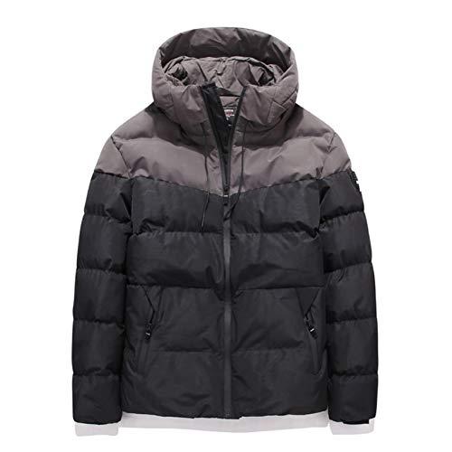 Damen/Herren Daunenjacke Mode locker Stil Steppmantel Wintermantel wasserdicht Winterjacke Kurz Mit Kapuze Jacke Coat,Schwarz,M