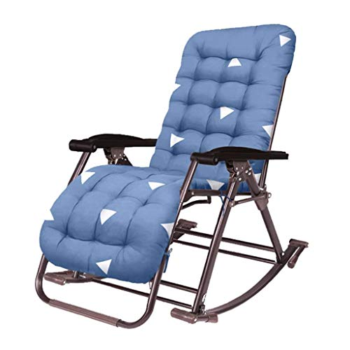 Portable Zero Gravity Chair Rocking Chair Sun Loungers, Patio Deck Chair Reclining Garden Chair - Friendly Cotton Pad Outdoor Folding Portable Recliners Chair - Support 440lbs HAIKE (Color : C)