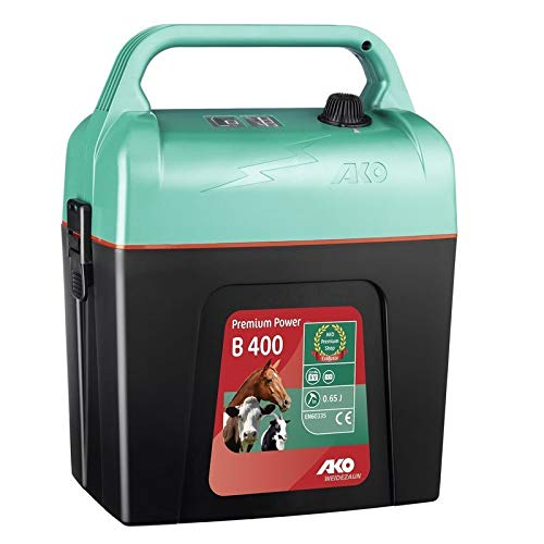 AKO Weidezaungerät Premium Power B 400-9 Volt - kompaktes Gerät für Pferde, Rinder und Kleintiere - Made in Germany
