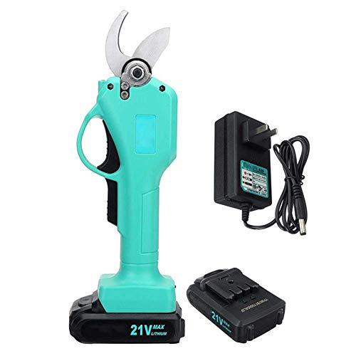 LLSS Sécateur électrique sans Fil 21V, diamètre de Coupe de 1 Pouce (25 mm) ou 30 mm, Taille-Arbre alimenté par Batterie au Lithium 2 Ah,