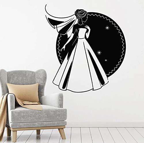 Calcomanía De Pared Matrimonio Moda Damas Novia Vestido De Novia Tienda De...