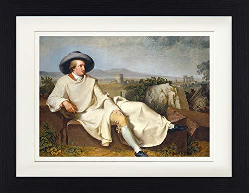 1art1 Johann Heinrich Wilhelm Tischbein - Goethe In Der Campagna, 1787 Gerahmtes Bild Mit Edlem Passepartout | Wand-Bilder | Kunstdruck Poster Im Bilderrahmen 40 x 30 cm